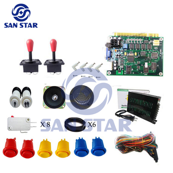 Arcade DIY Kits 60 In 1/Power Supply/Button/Joystick/ Microswitch/Jamma Harness/ Speaker/Game machine accessories