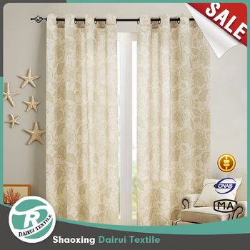 Floral Scroll Printed Linen Curtains Bedroom Window Treatments (Sage 50-inch x 84-inch One Pair)