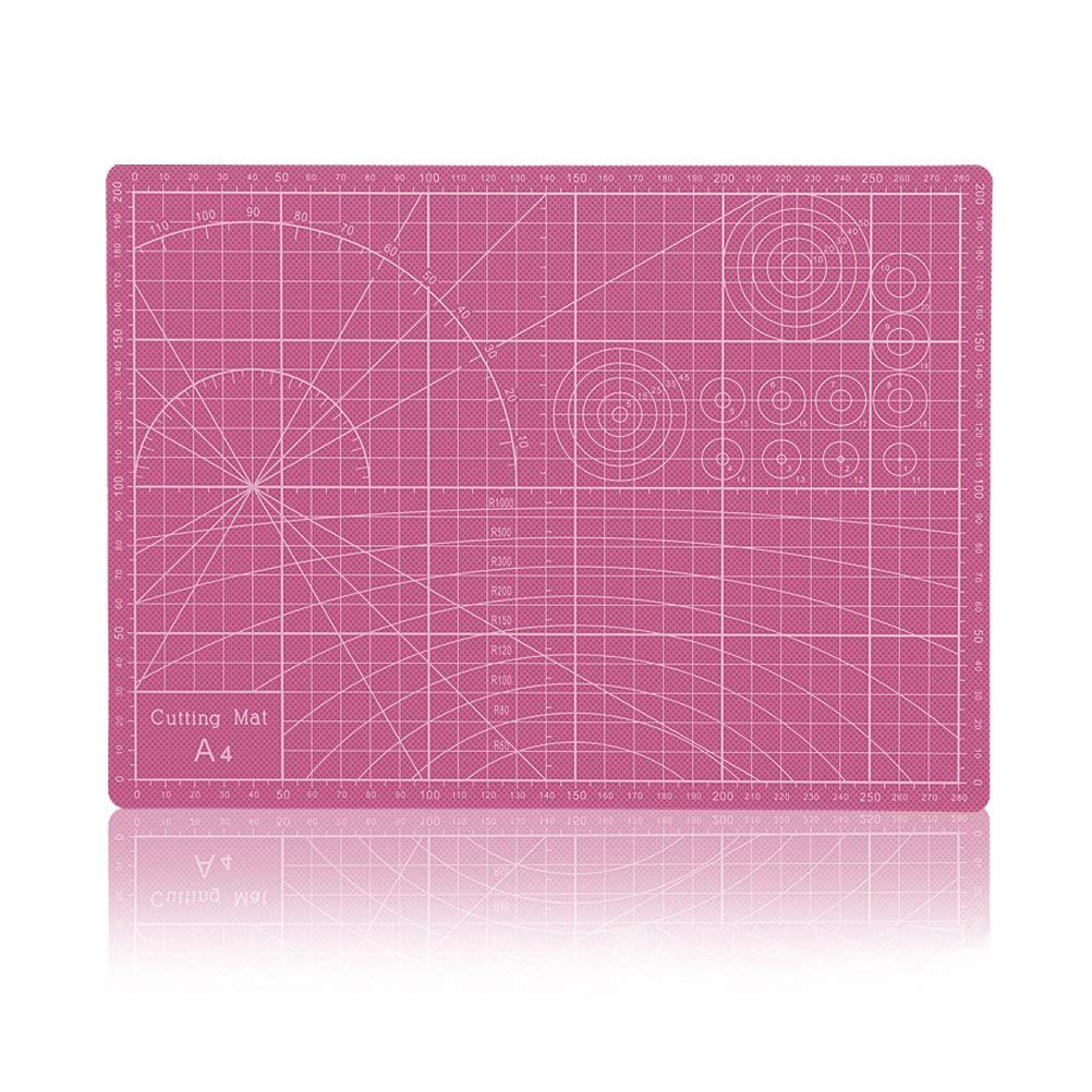 "Vankcp Cutting Mat,Self Healing Rotary Mat, 24""x36"" 18""x24"" 12""x18"" Professional Double-Sided Thick Non-Slip for Quilting, Sewing, Art Projects (Pink, 18""x 24"")"