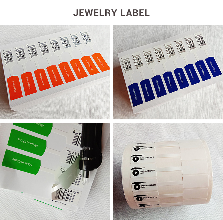 Jewelry Barcode Label, Custom Printed Barcode Label Roll