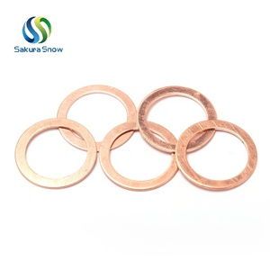 Custom good quality copper washer aluminium gasket mild steel gasket