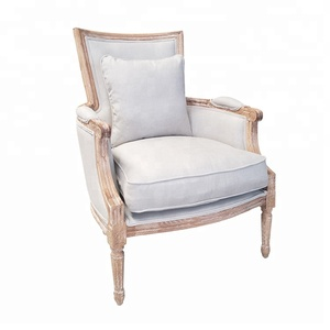 Cheap manufacturer french country style event rental oak wood hotel recliner sofa chair