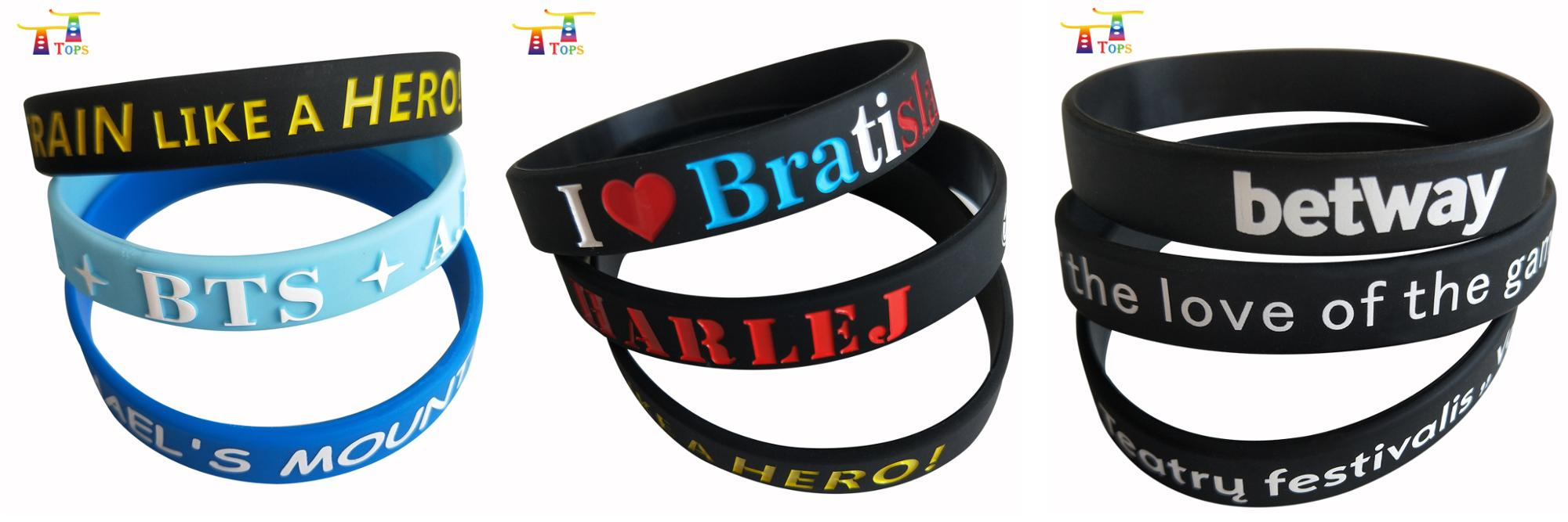 factory direct popular personal design silicon bracelet for promo gift