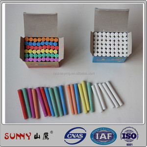 Factory stock dustless school color chalk