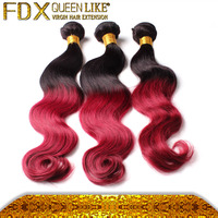 Machine Weft 1b+99j Body Wave Remy Hair Weave
