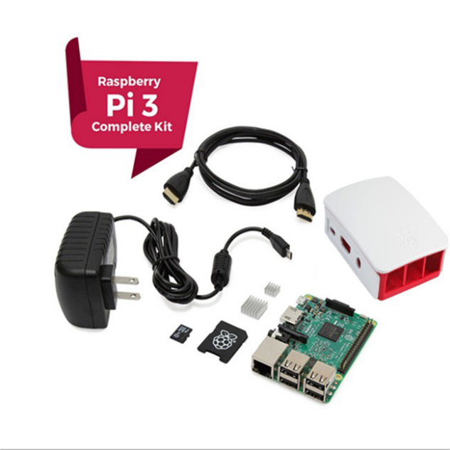 RASPBERRY Pi 3 1.2 GHz Quad Core 64Bit 1 GB RAM 16 GB Starter Kit สีดำ