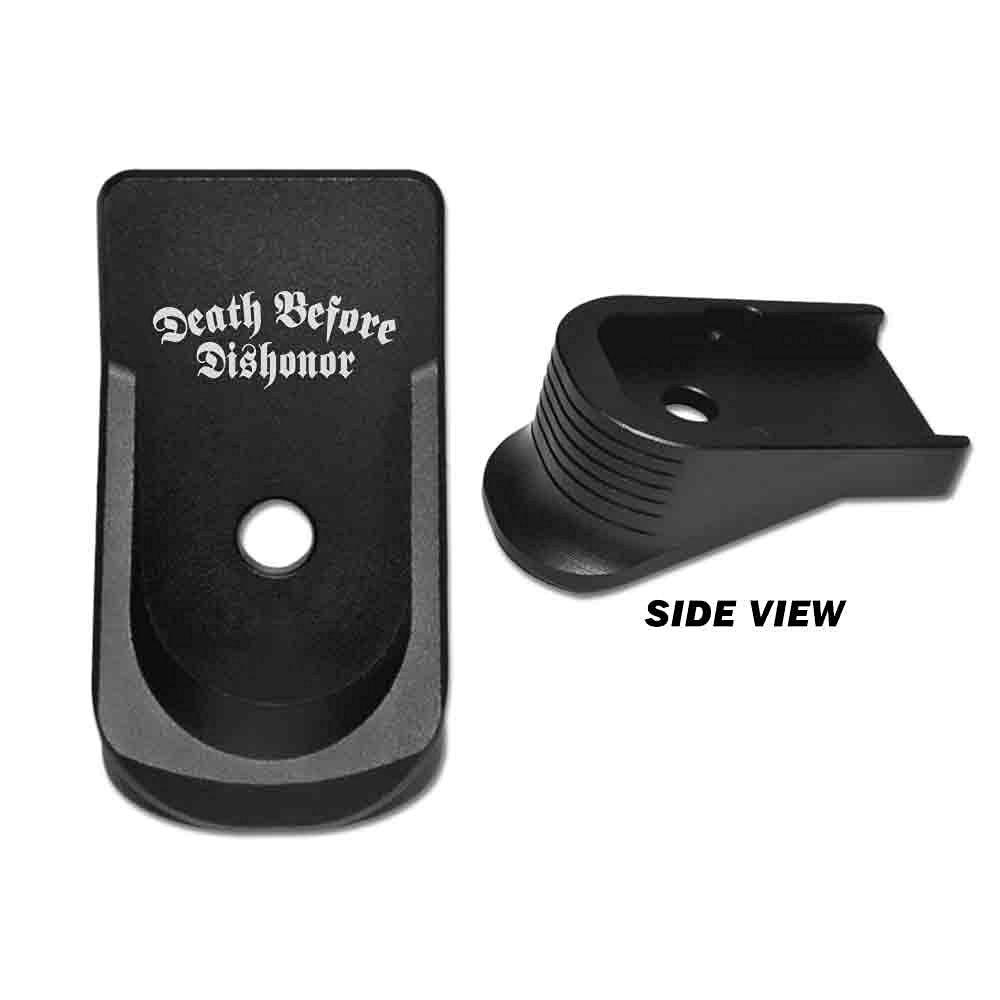 BASTION Aluminum Finger Extension Grip Floor Base Plate EXT for Glock 42 G42 .380 - DEATH B4 DSHNR