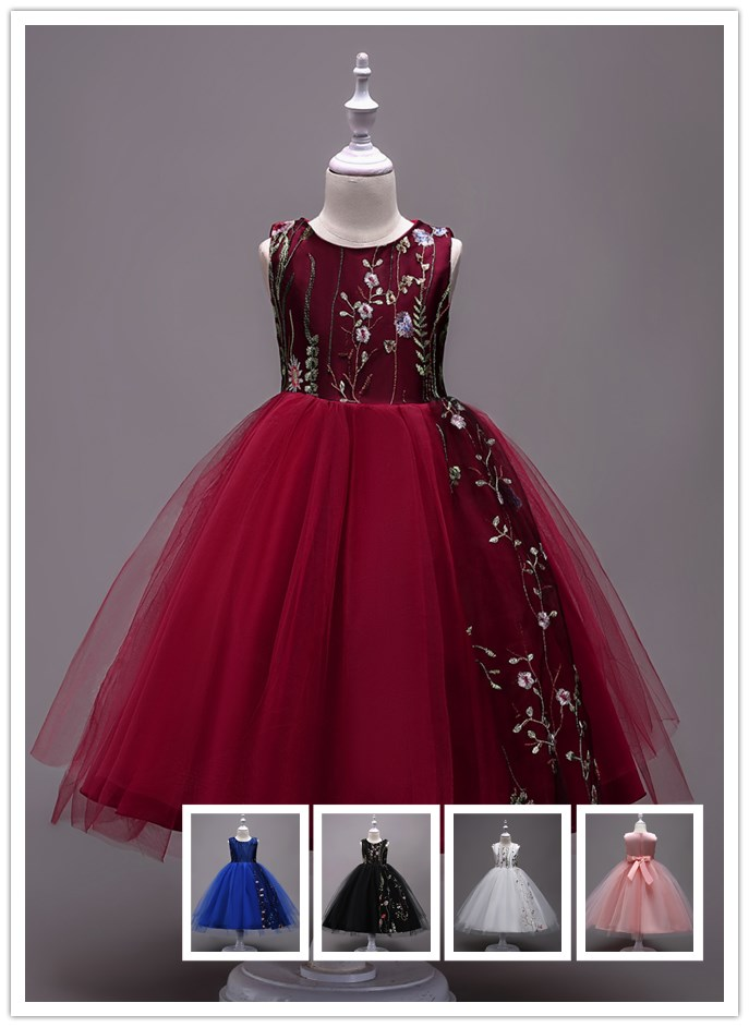 Gaya Korea Hot Menjual Anak Gaun Pesta Warna Merah Muda Gadis Bunga Pernikahan Gaun Ulang Tahun Bayi Gaun Untuk 3 Tahun Buy Anak Gaun Pesta Gadis