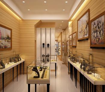 freies design moderne holz farbe schmuck shop mobel design mit glasvitrine und wandhalterung vitrinen