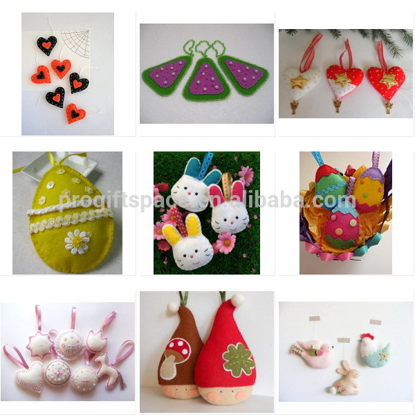 2018 new hot sale China fabric items wholesale handmade animal craft kids ornament rabbit ideas desk decoration felt Easter bowl