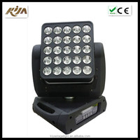 2017 KIYA popular matrix 15W*25PCS 4in1 led pixel control moving head for disco party stage lighting