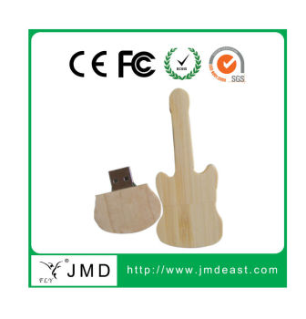 worldwide recycle mini wooden guitar USB flash drive usb 2.0 OEM