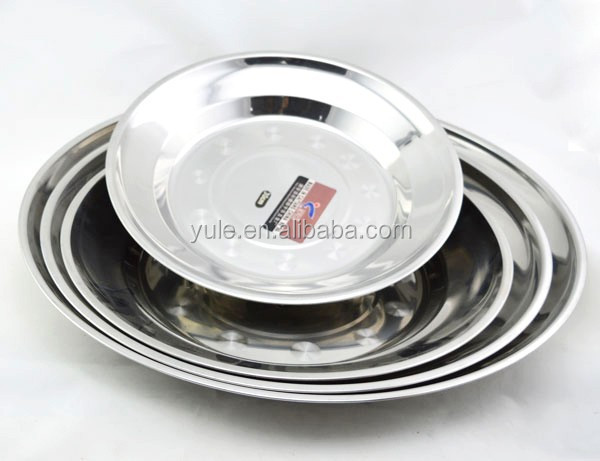 14 to 60cm Chinese manufactures stainless steel eat dishes