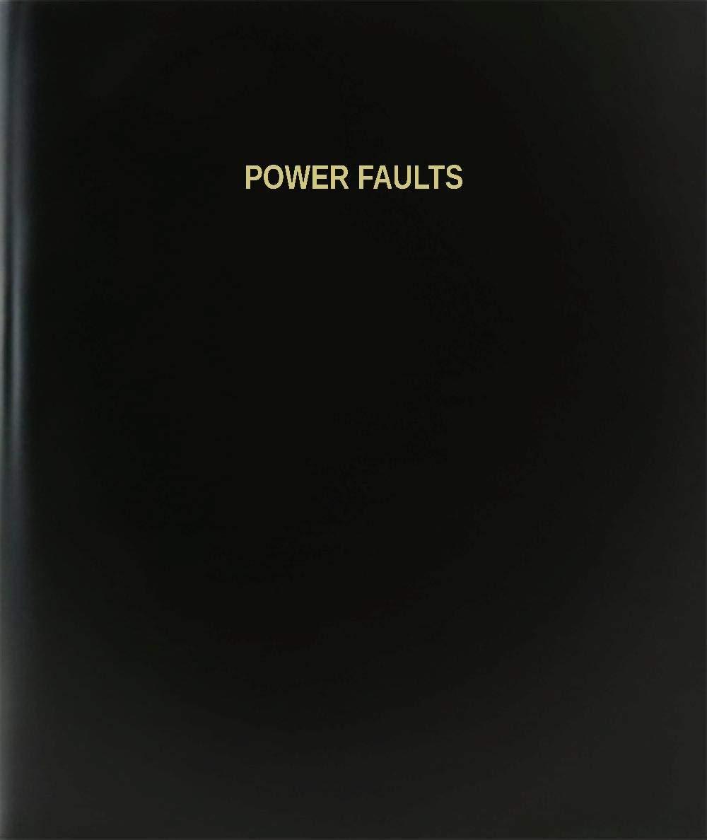 "BookFactory® Power Faults Log Book / Journal / Logbook - 120 Page, 8.5""x11"", Black Hardbound (XLog-120-7CS-A-L-Black(Power Faults Log Book))"
