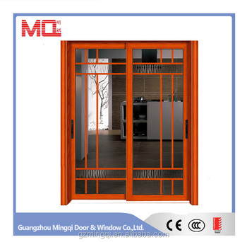 Customized size aluminum door with blinds germany sliding door