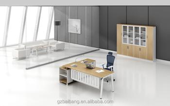 High Tech Stainless Steel Executive Boss Office Desk Series Design