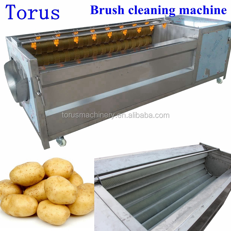 Stainless steel potato washing machine peeling machine with 9 rolls