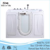 premier care in bathing solutions deep size step in handicap walk in bathtub