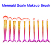 10 Pcs High Quality Cosmetic Foundation Mermaid Makeup Brushes