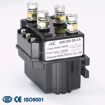24v Adc50/adc200-de Dc Contactor Aokai Electrical Equipment Parts Battery  Car Dc Relay Contactor From China - Buy Double Coil Contactor,Electric