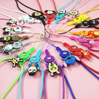 Key chain made of silicone rubber doll accessory mobile phone strap with best service and low price
