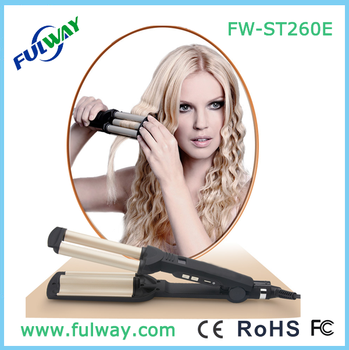 Fashion New 3 Barrel Professional Ceramic Hair Curler As Seen On Tv Curling Iron Tong Roller