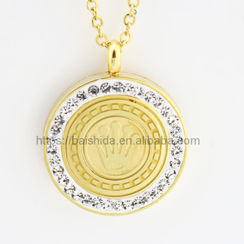 round zirconia gold plated famous brand imitation jewellery