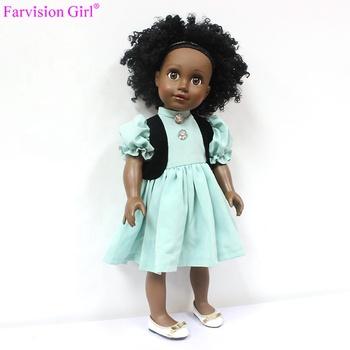 Loli Puppe Echte 18 Zoll Afrikanische Puppe Mit Puppe Haar Perücken