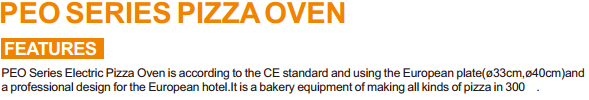 PEO series using european plate electric pizza oven ovens commercial