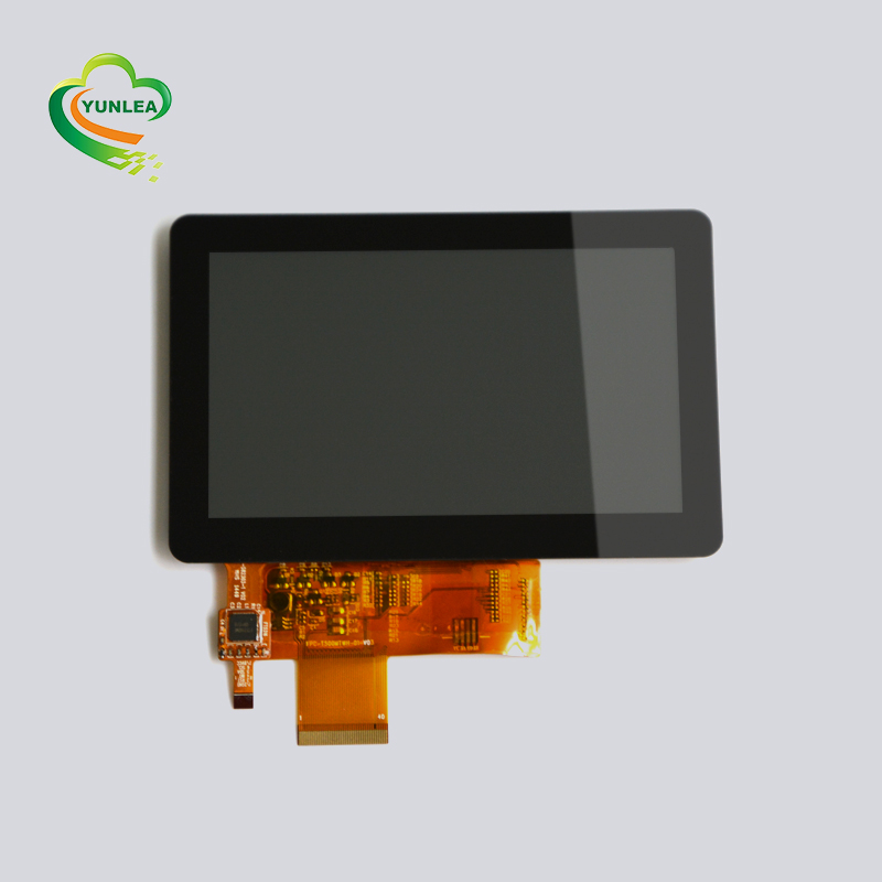 "7"" multipoints capacitive touch screen display with gg structure and 12C interface"
