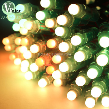 hot sale color changing christmas light ws2811 ws2801 waterproof pixel led light 12mm rgb led pixel