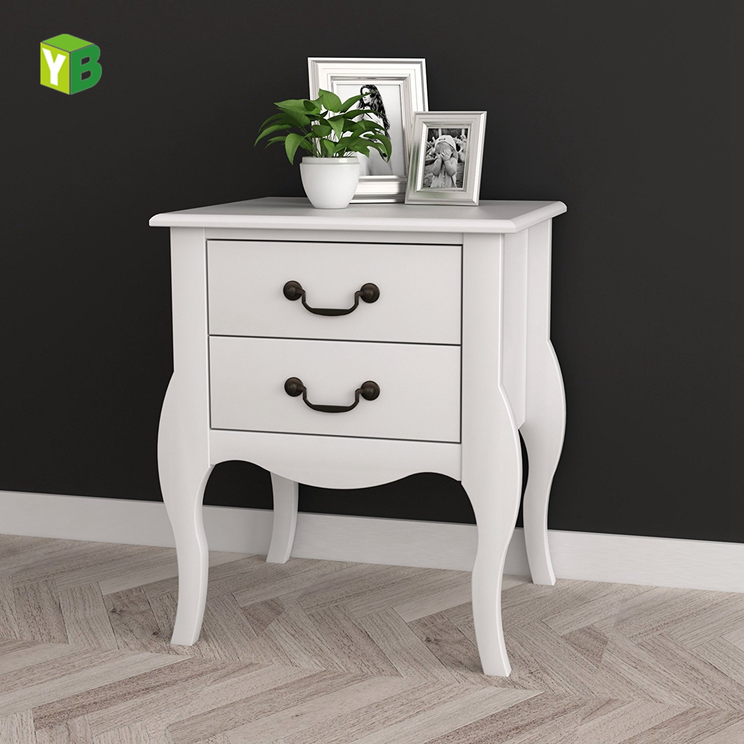 White Mdf Modern Bedside Table Clic