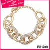 Good quality wedding jewelry wholesale in bangladesh 2016 hot sale simple designed gold hand chain bangles bracelet