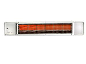 Quality Brand Company QBC Bundled Sunpak Classic S25-S-LP (25,000 BTU) Hanging Patio Heater Stainless Steel Propane Gas (LP) - No Fascia Kit - Plus Free QBC Infrared Heating Fundamentals QBC eGuide