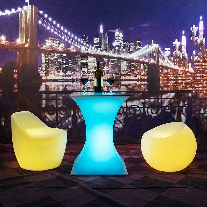 LED bar table d'éclairage moderne LED canapé chaise mobilier d'extérieur canapé LED canapé chaise
