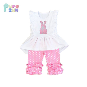 New Baby Girl Summer Beautiful Cotton Child clothes Boutique Easter Baby clothing sets