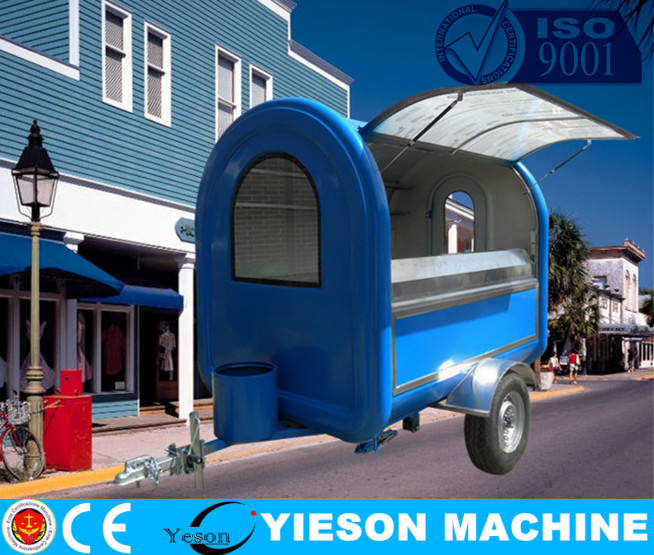 ys made pop up food trailer & food trading carts / top sell fried fast food trailer & van, kiosk / pork buns food trailer