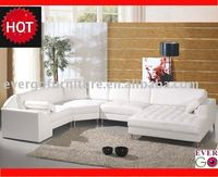 Evergo design leather corner sofa living room furniture home