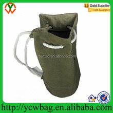 Special style canvas bag Round drawstring bag