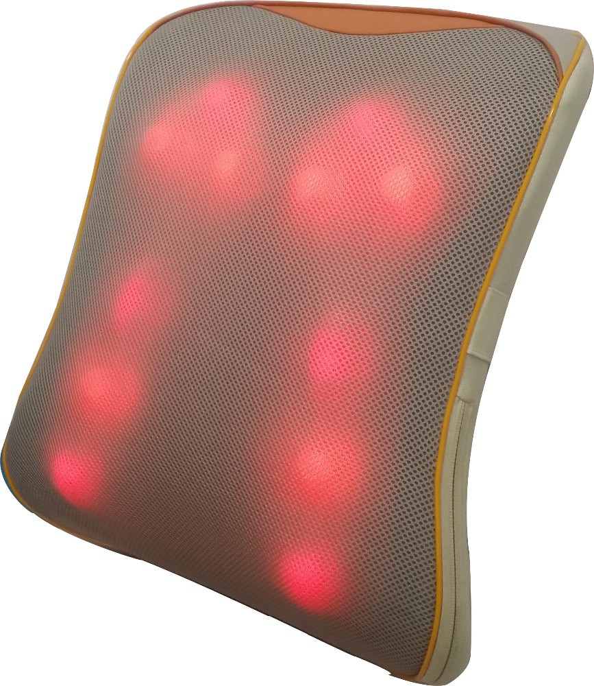 3D shiatsu massage cusion with kneading, infrared heating