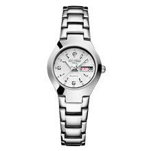 Часы для влюбленных Роскошные Кварцевые наручные часы для мужчин и женщин Belushi Dual Calender Week стальные парные часы Relogios Masculino(Китай)