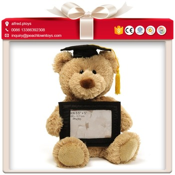 Funny Graduation Bear Stuffed Animal Picture Frame Buy Stuffed