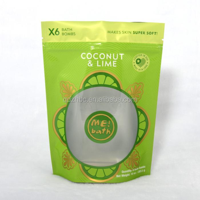 Custom Printing plastic bath salt packaging bag for cosmetics zip lock packaging pouch