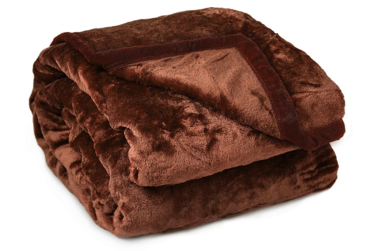 Archangel 2 Ply Twin Solid Mink Blanket - Brown