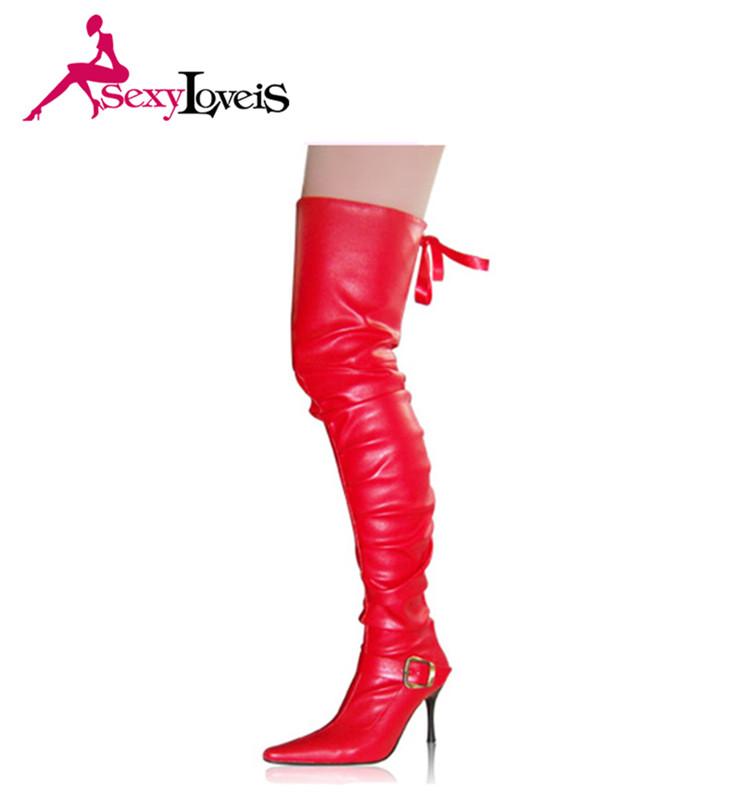 6973b5a8a238 New Fashion Red Women Snow Boots Platform Sexy Thigh High Boots ...