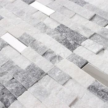 Super Wandverkleidung Regenbogen Und Weiße Naturstein Mosaik Fliese Für MG95
