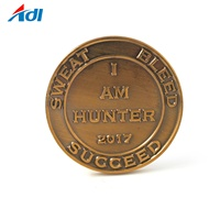 Wholesale customized antique brass challenge collection coins