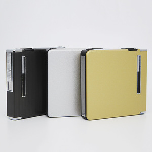 Electronic Automatic Metal Cigarette Case With Built In USB Lighter