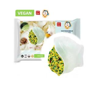 "Vegan Cucumber and Egg FIllings dumplings""450g Quick-Frozen dumplings"