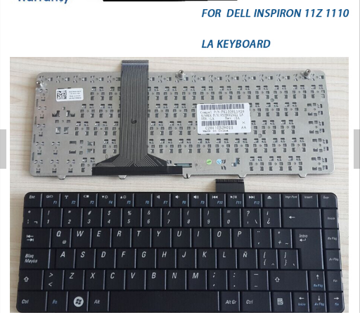 Spanish replacement For DELL Inspiron 11Z 1110 laptop keyboard layout US SP LA RU IT FR AR TR UK GR